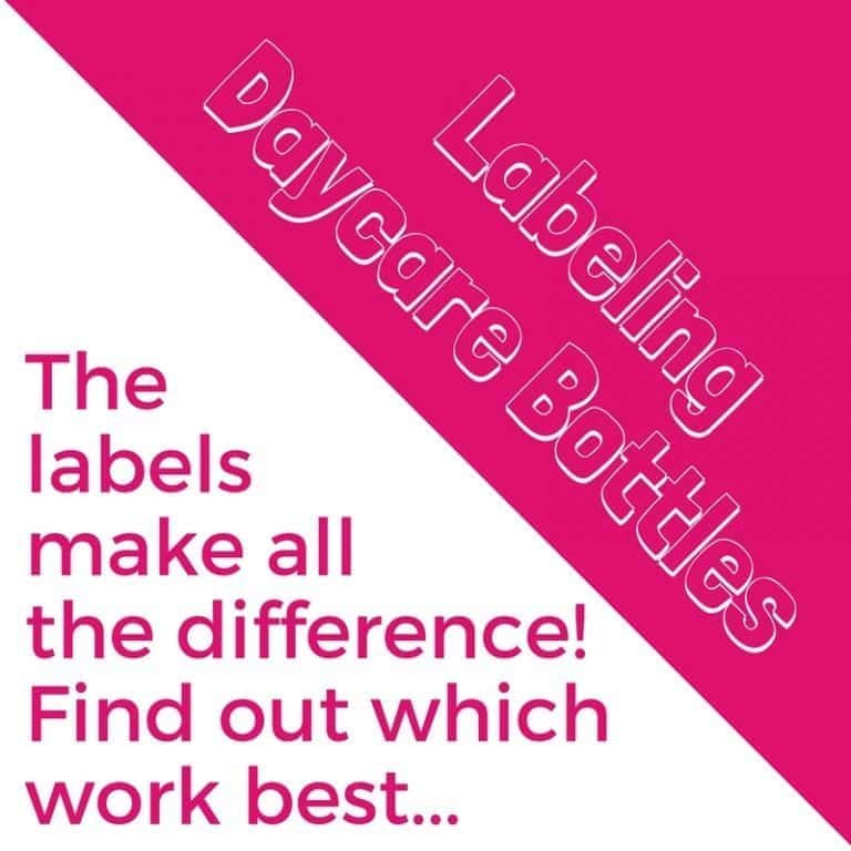 The labels really do make all the difference! Find out how to label your bottles for daycare!