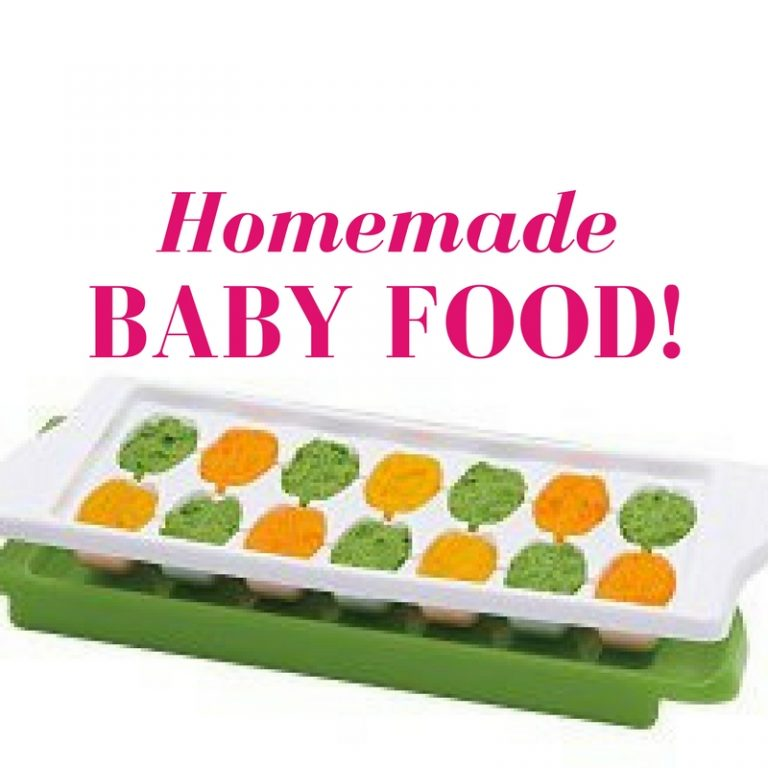 Making homemade baby food! recipes, storage, and freezing tips