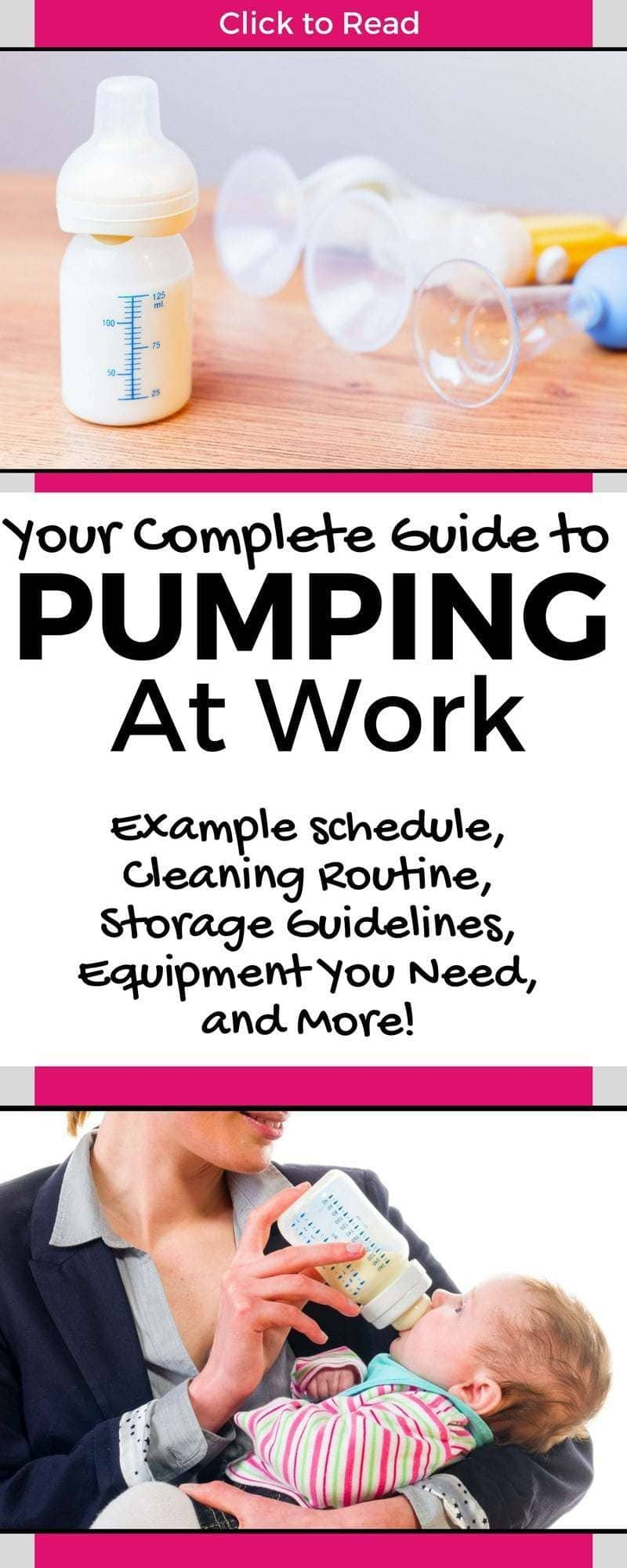 Going back to work soon? Read this post to learn how to pump at work! You'll get a pumping schedule, pumping at work hacks, pumping at work checklists and more! || pump at work tips, pumping at work tips; pumping at work guide, pumping at work tips, pumping at work storage || #pumping #breastfeeding #breastfeedingatwork #pumpingatwork #pumpingtips #pumpingguide #pumpinghacks