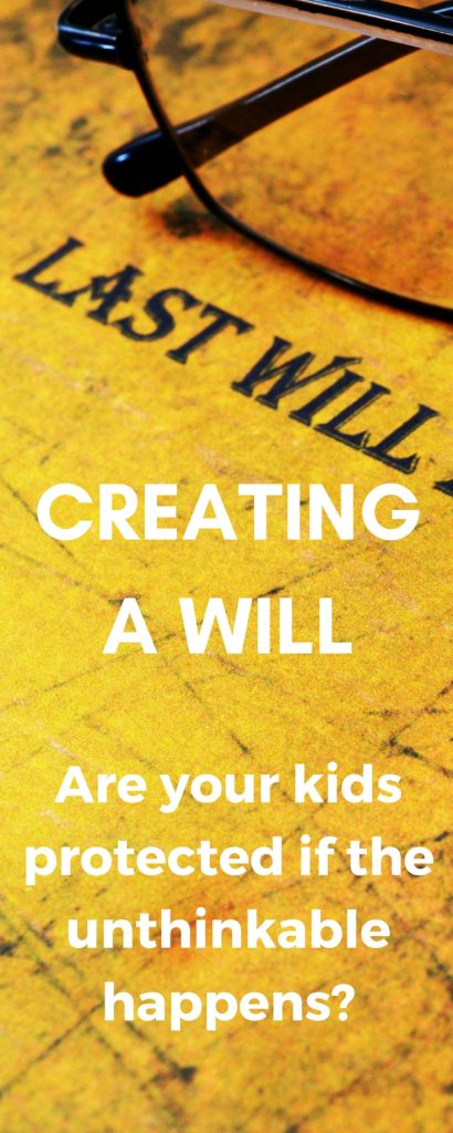 Taking care of your kids, means caring for them even if you're gone! Do you have a last will and testament? How about a power of attorney? Have you made any decisions about guardianship? Be ready if the unthinkable happens! Read this post.