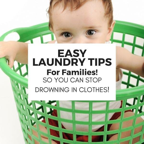 easy wash clothing tips laundry family