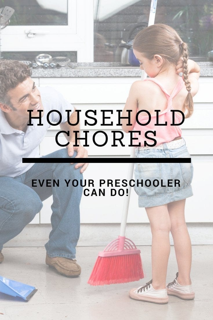 Chores for kids by age! Includes chores for 2 year olds and up to teenagers! A great get started guide for getting you kids to help around the house and do chores!