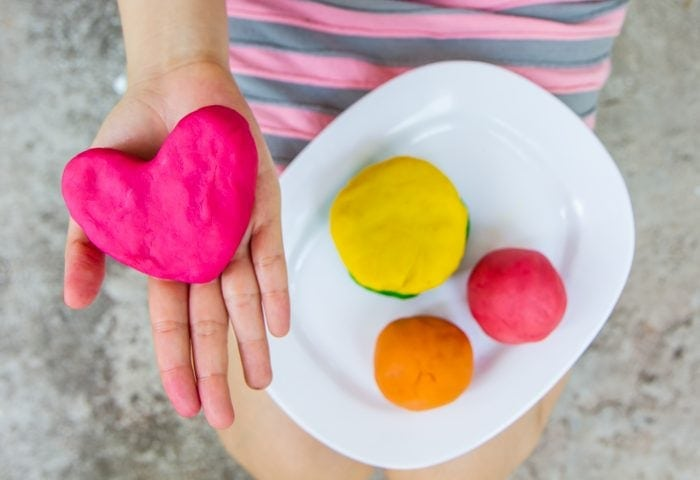 easy way to make learning fun, learning with playdough