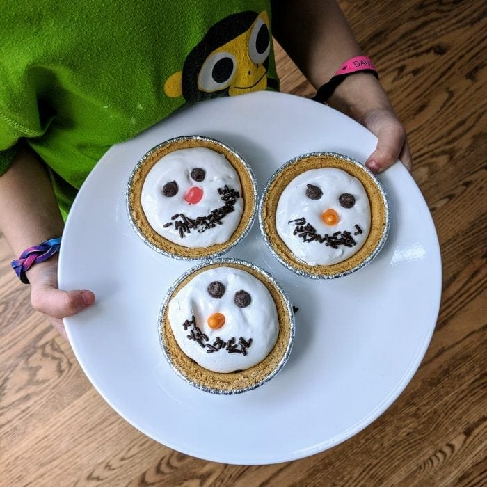 snowman fruit tarts pies recipe